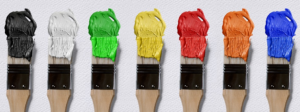 Latexfarbe kann auch bunt sein